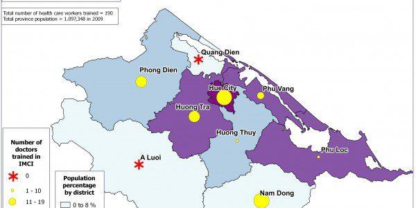 Population Distribution and IMCI Training Map