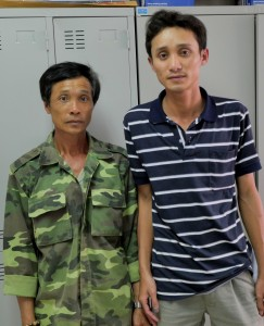 Binh received surgery in 2015. He is here with his father, who he supports.